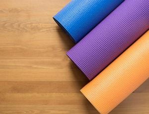 Olika mattor till yoga